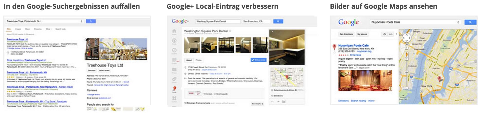 Google Business Vorteile